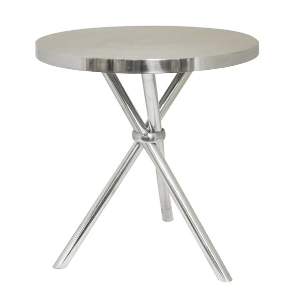 Mikayla Aluminum End Table by Urban Designs