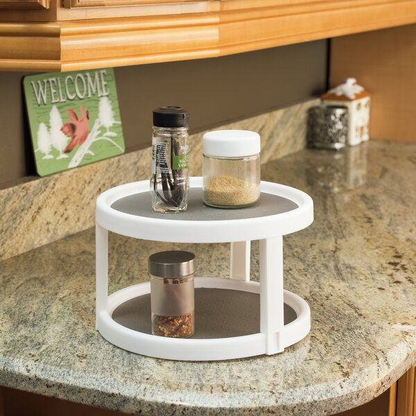 Plastic Twin Lazy Susan by Home Basics
