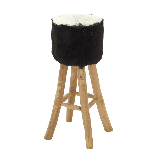 30 Teak Patio Bar Stool with Cushion by Cole & Grey