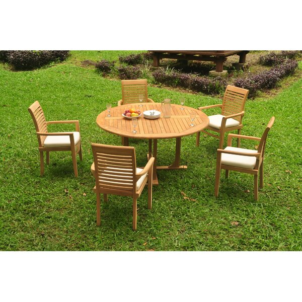 Southa 6 Piece Teak Dining Set by Rosecliff Heights