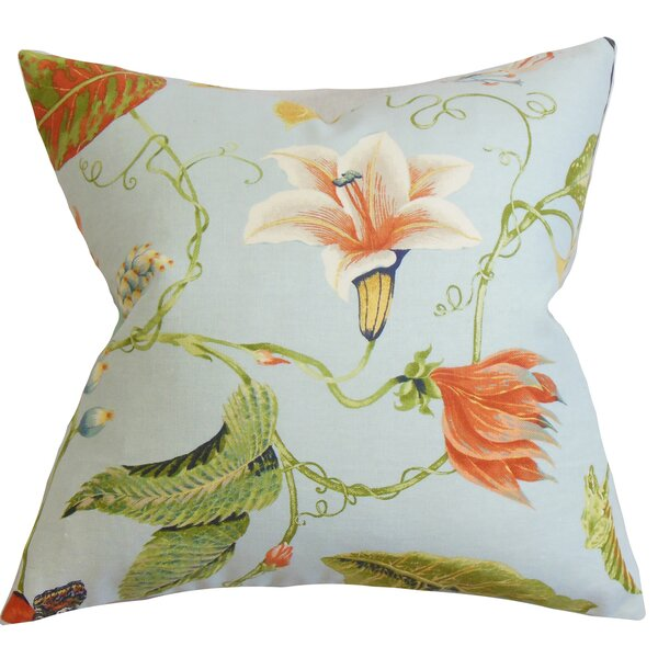 Conesville Floral Floor Pillow by Bayou Breeze