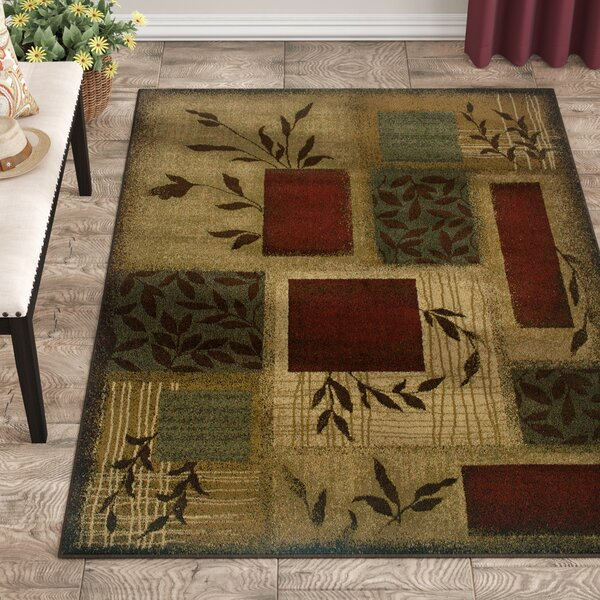 Abell Beige/Wine Red Area Rug by Fleur De Lis Living