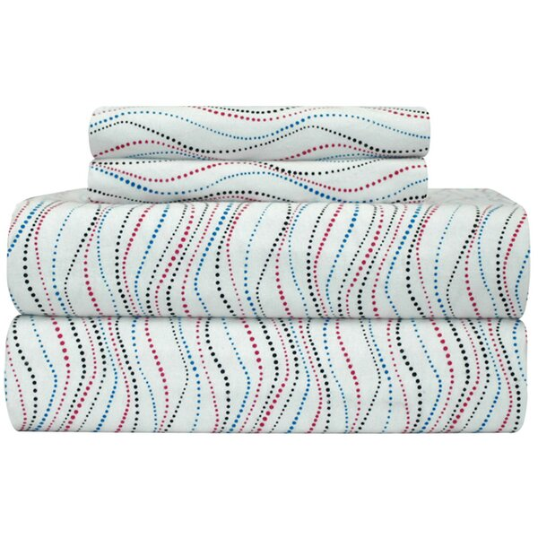 Heavy Weight Metro Printed Flannel Sheet Set by Pointehaven