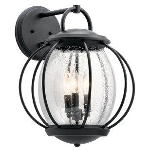 Affordable Haddox 3-Light Outdoor Wall Lantern By Brayden Studio