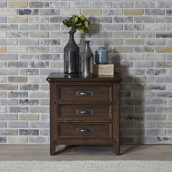 Earby 3 Drawer Nightstand by Canora Grey