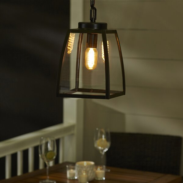 Silver Gulch 1-Light Outdoor Pendant by Red Barrel Studio