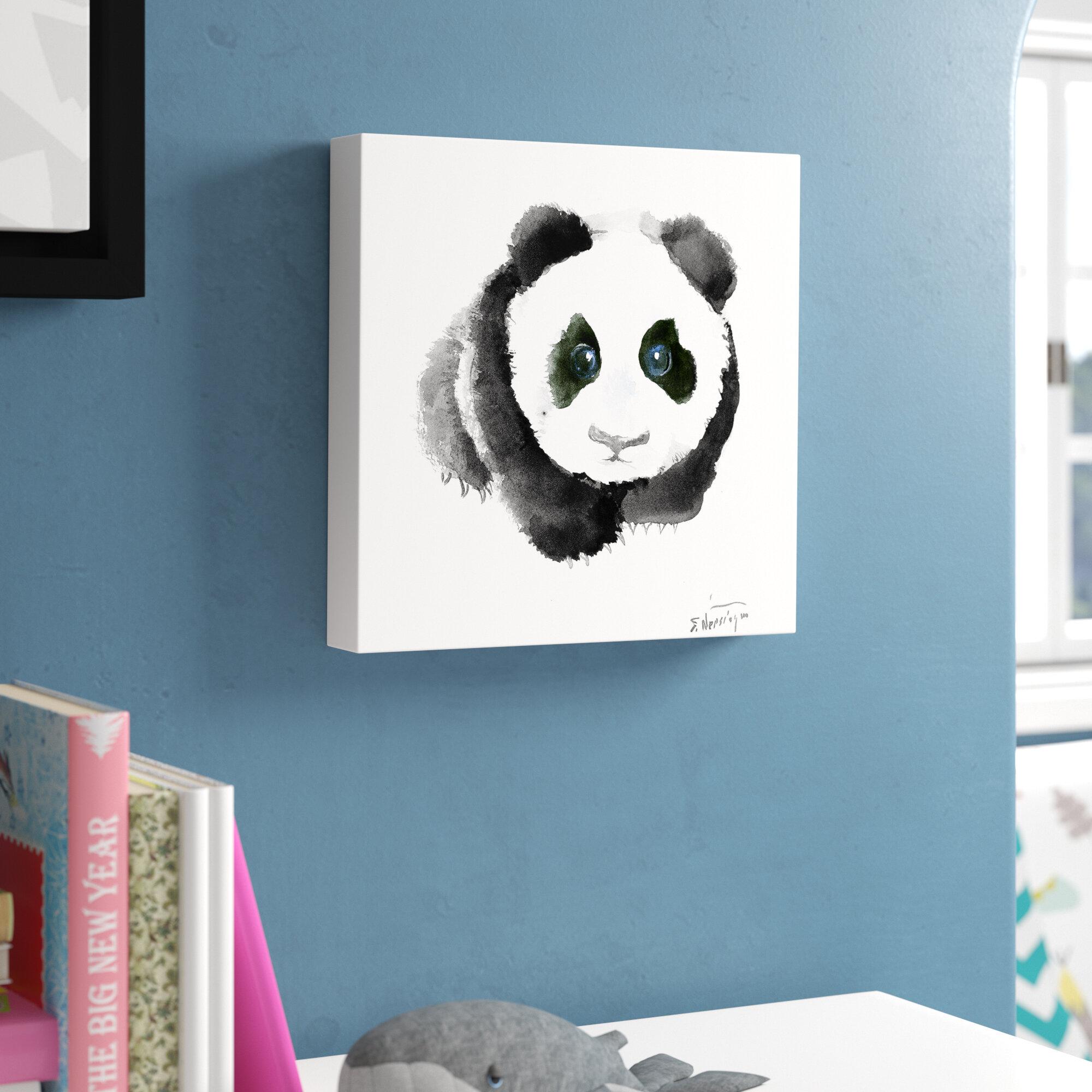 viv rae baby panda canvas art reviews wayfair