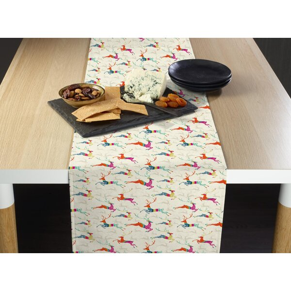 Etna Prancing Reindeer Table Runner by The Holiday Aisle