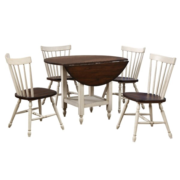 Andrews 5 Piece Drop Leaf Dining Set By Sunset Trading