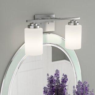 Satin nickel bathroom vanity lighting youll love wayfair save aloadofball Gallery