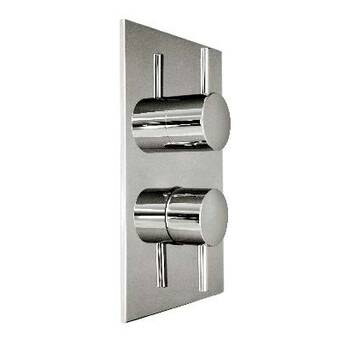 Harrington Brass Works Retro Thermostatic Trim With Square Plate And Two Handles Wayfair