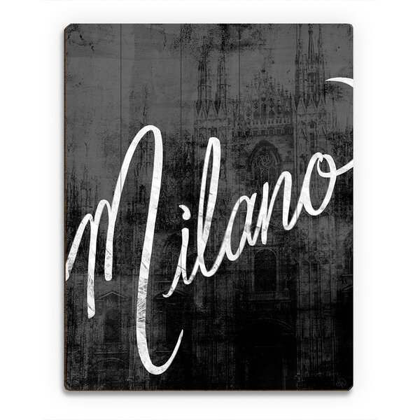 Wood Slats Urban Milano Graphic Art on Plaque by Click Wall Art