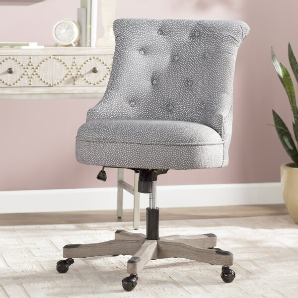 Maria Dots Mid-Back Desk Chair by Alcott Hill