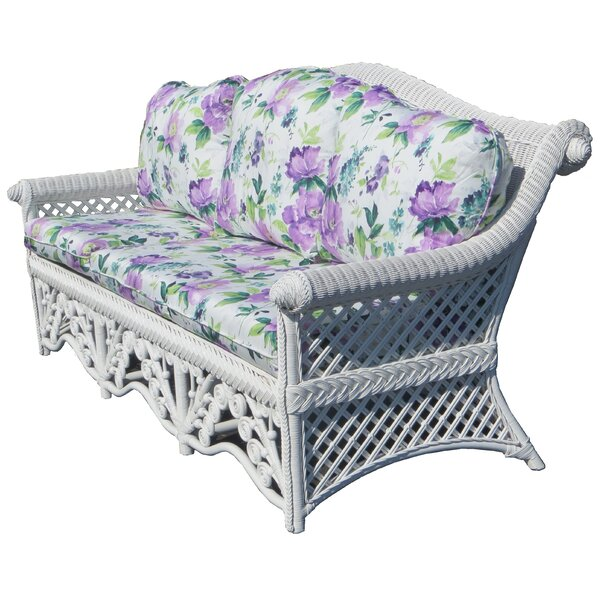 Mathys Traditional Floral Wicker Sofa by August Grove
