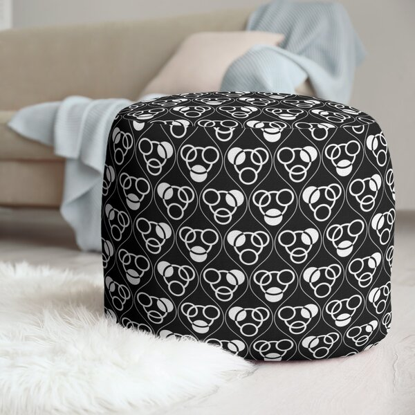 Classic Circles Waves Pouf by East Urban Home