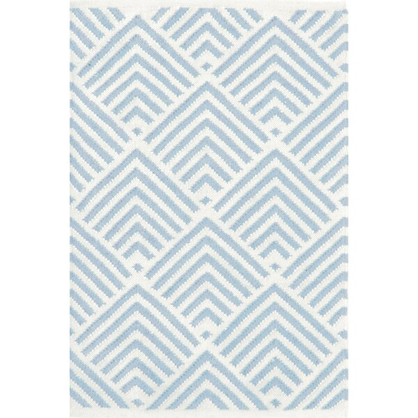 Cleo Blue & White Graphic Indoor/Outdoor Area Rug by Bunny Williams for Dash and Albert