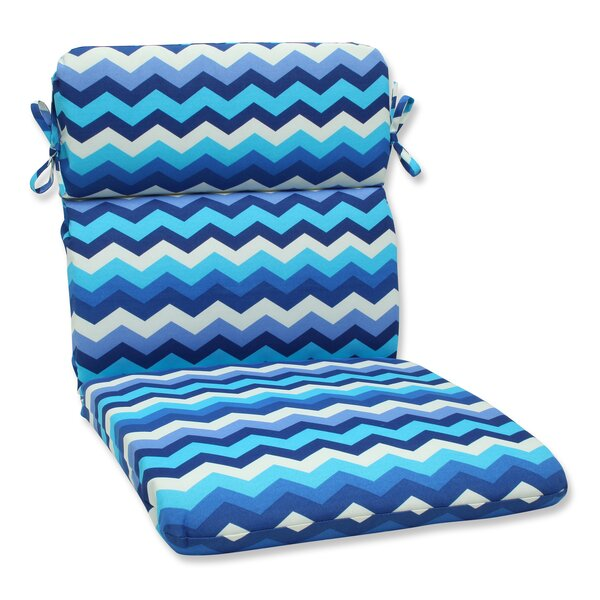Panama Wave Indoor/Outdoor Chair Cushion by Pillow Perfect