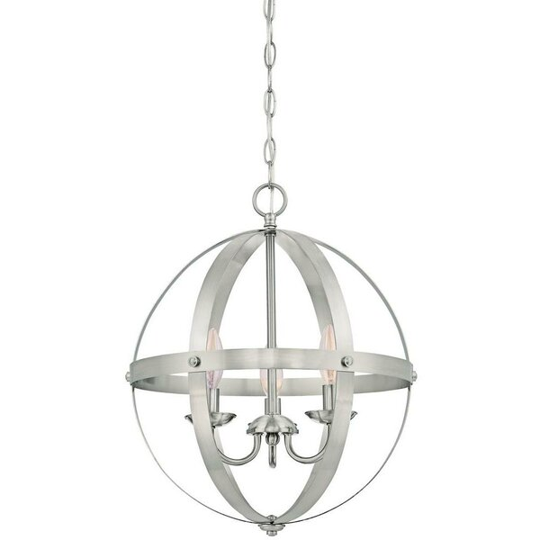 La Barge 3-Light Globe Chandelier by Laurel Foundr