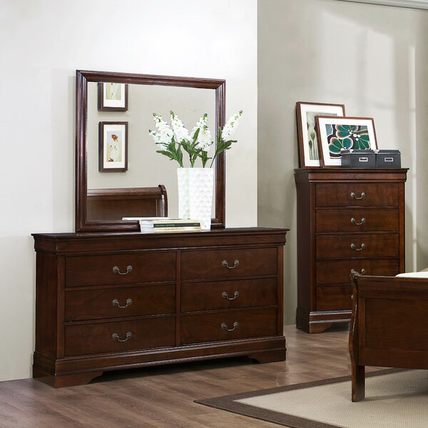 Waynesburg 6 Drawer Double Dresser with Mirror by Alcott Hill