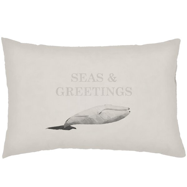 Chiaramonte Indoor/Outdoor Humpback Whale Lumbar Pillow