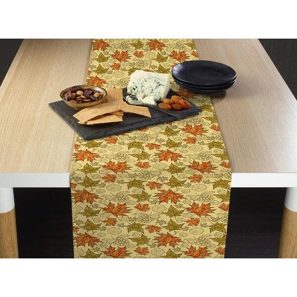 Ensminger Colorful Maple Leaves Table Runner by The Holiday Aisle