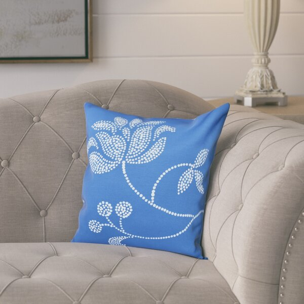 Maniteau Flower Bloom Print Throw Pillow by Lark Manor