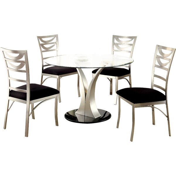 Bertita 5 Piece Dining Set by Orren Ellis