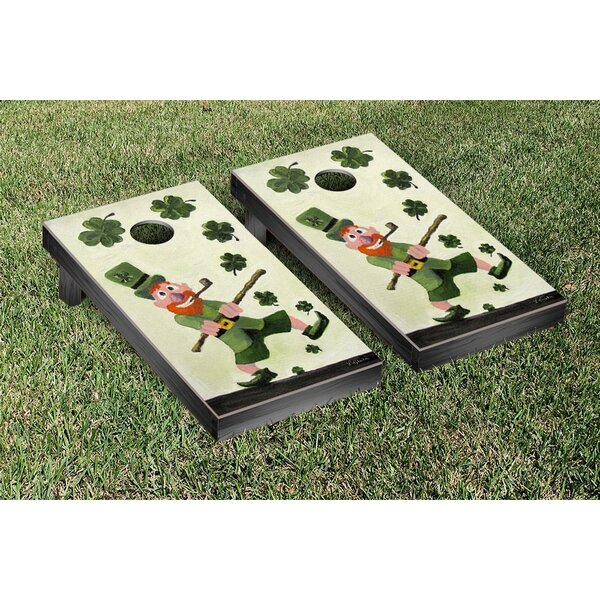 Dancing Leprechaun Cornhole Game Set by Victory Tailgate