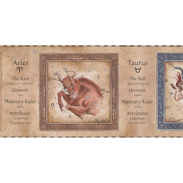 Hamm Zodiac Signs Astrology Wallpaper Border by Highland Dunes