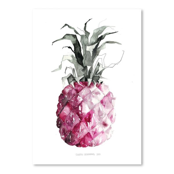 Pineapple Pink Painting Print by Bay Isle Home