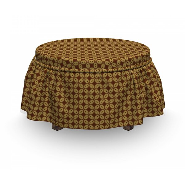 Simplistic Round Sided Sqaure Ottoman Slipcover (Set Of 2) By East Urban Home
