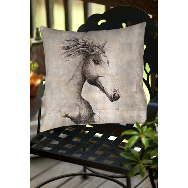 Run with the Wind Indoor/Outdoor Throw Pillow by Manual Woodworkers & Weavers