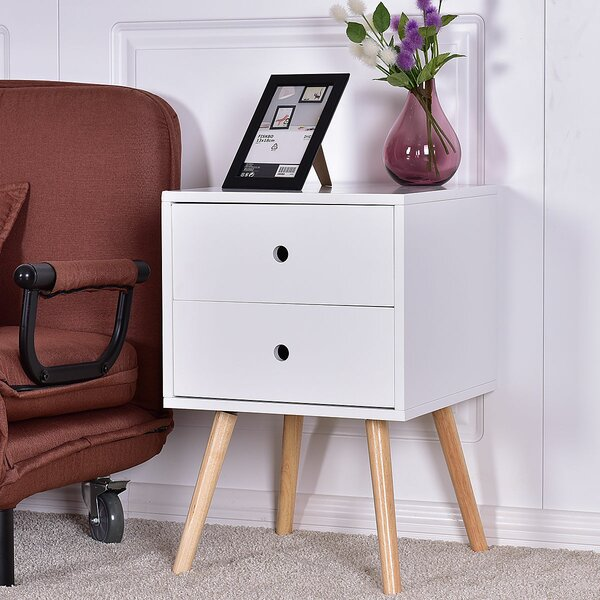 Reading End Table with Storage by George Oliver