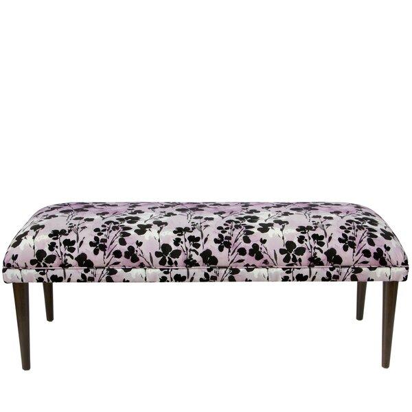 Mireille Floral Upholstered Bench by Latitude Run Latitude Run