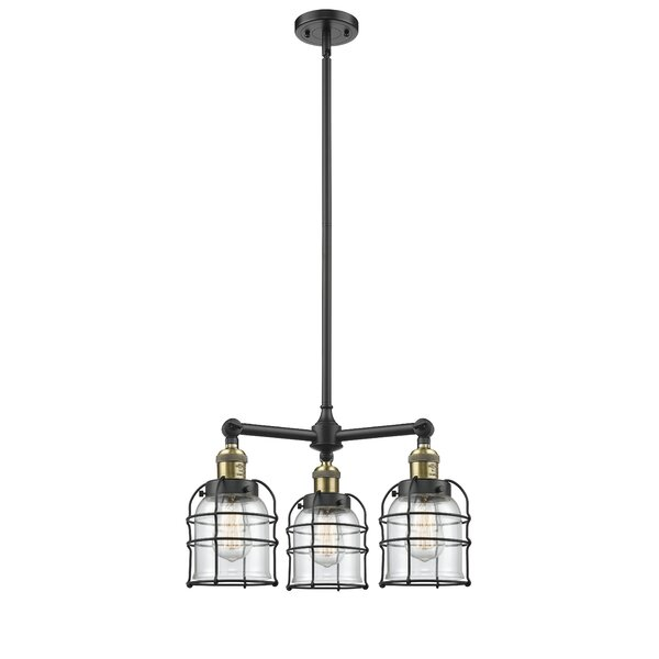 Zachariah Bell Cage 3-Light Shaded Chandelier by Breakwater Bay