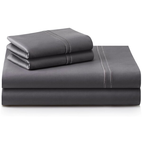 Cateline 600 Thread Count Premium Cotton Fitted Sheets Set (Set of 4) by Darby Home Co