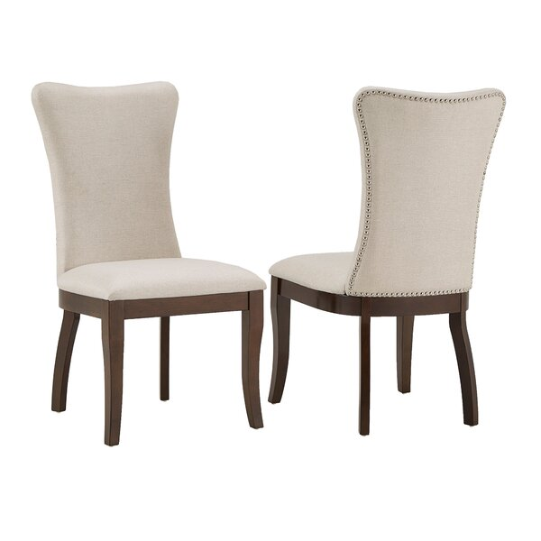 Delaplaine Wingback Upholstered Dining Chair (Set of 2) by Gracie Oaks