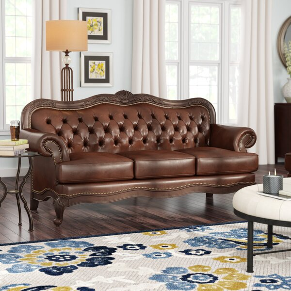 Don't Miss The Smith Leather Sofa by Darby Home Co by Darby Home Co