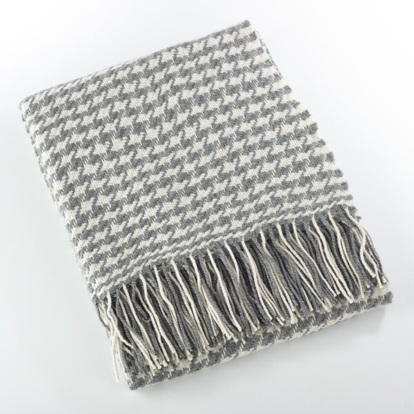 Mantua Houndstooth Throw by Gracie Oaks