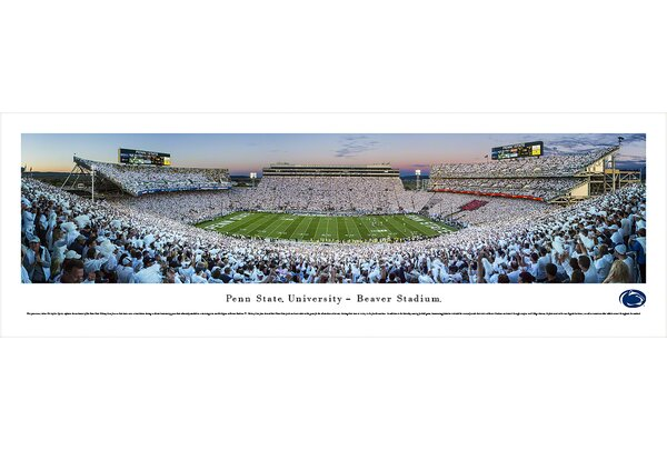 NCAA Penn State University - Sunset by Christopher Gjevre Photographic Print by Blakeway Worldwide Panoramas, Inc