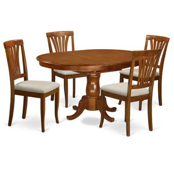 Portland 5 Piece Extendable Dining Set By East West Furniture Best Choices