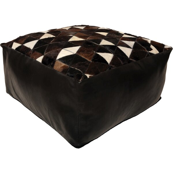 Arceneaux Leather Pouf by Foundry Select