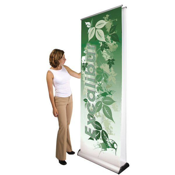 Double Sided Premium Excalibur Banner Stand by Exhibitor's Hand Book