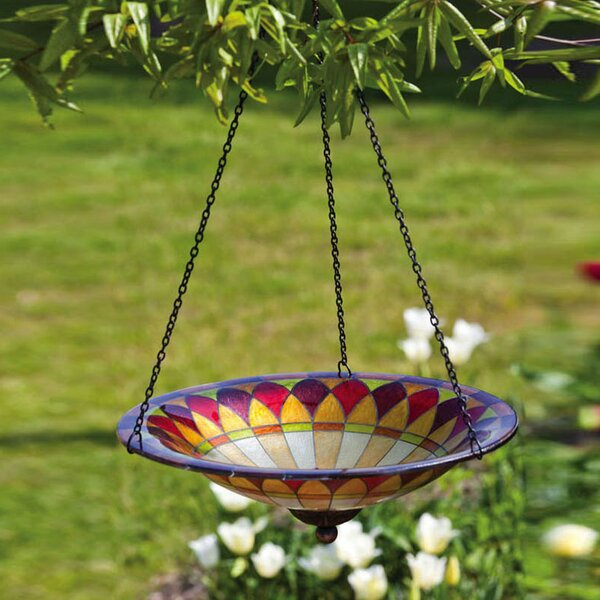 Tiffany Hanging Birdbath by Evergreen Flag & Garden