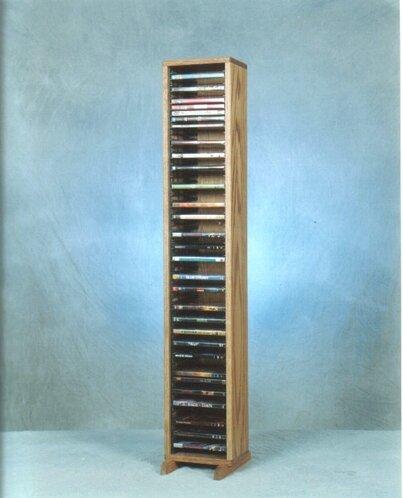100 Series 64 DVD Multimedia Storage Rack by Wood Shed