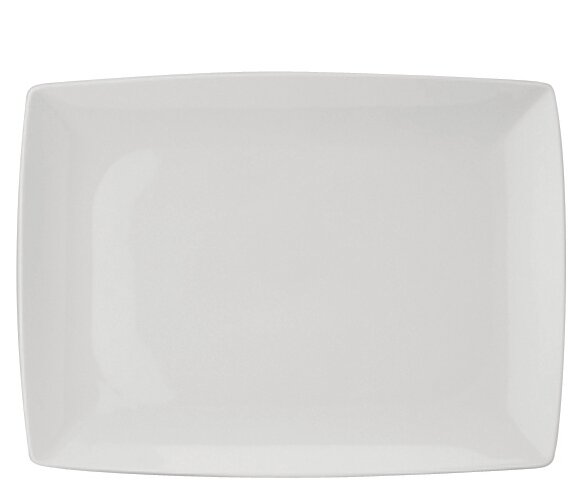 Carré White Rectangle Platter by Vista Alegre