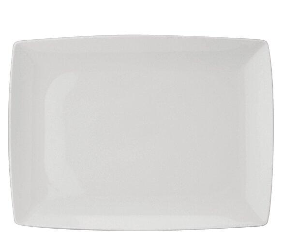 Carré White Rectangle Platter by Vista Alegre