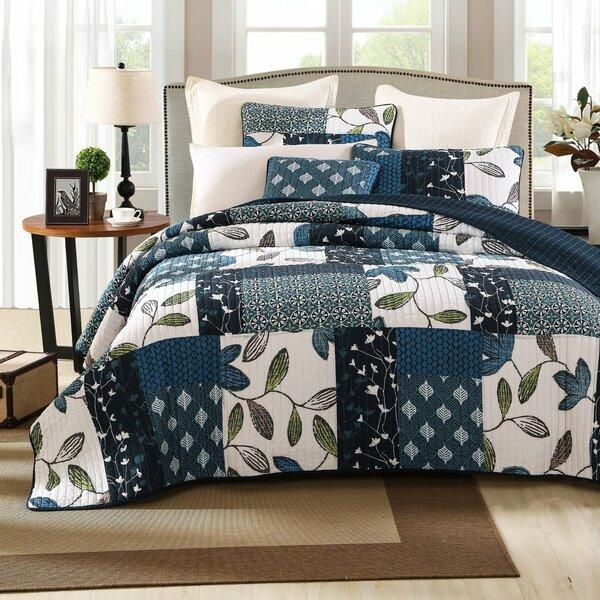 Nightfall Gardenia Quilt Set by Tache Home Fashion