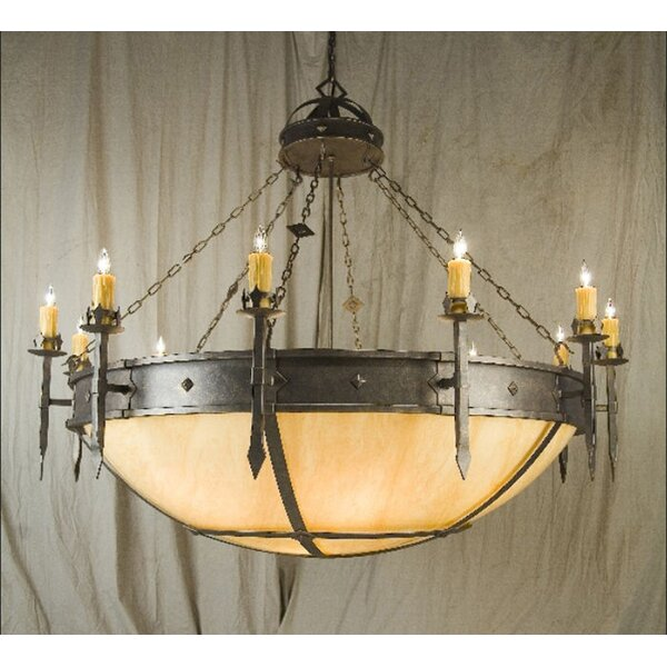 Castilla 20 - Light Candle Style Wagon Wheel Chandelier By 2nd Ave Design