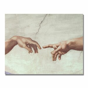 Hands of God by Michelangelo Graphic Art on Wrapped Canvas by Trademark Fine Art